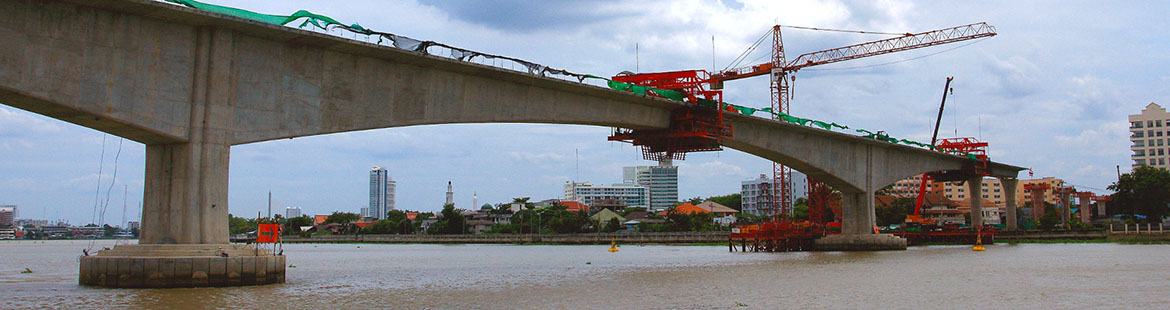 DC asia is providing project management for the MRTA blue line extension project which includes a bridge and a tunnel across Chao Praya River in Bangkok